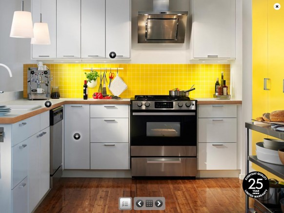 ikea yellow kitchen wall colors