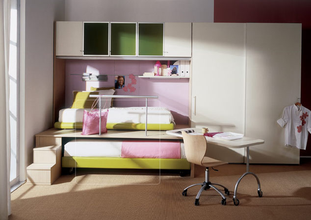 Apart From Making Kids Rooms Bright Ventilated And Colorful The Focus Is On Using Sleek Furniture Giving Way For Space This Can Be Achieved Through