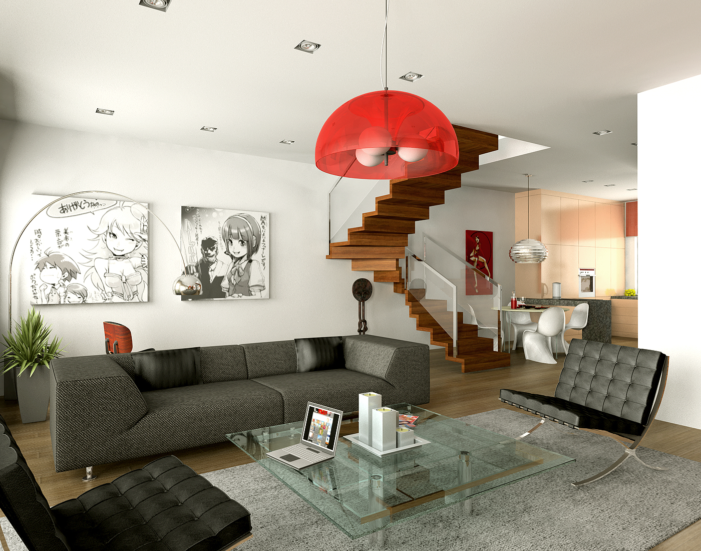 Brilliant Red Living Room Decor 1400 x 1100 · 1359 kB · jpeg