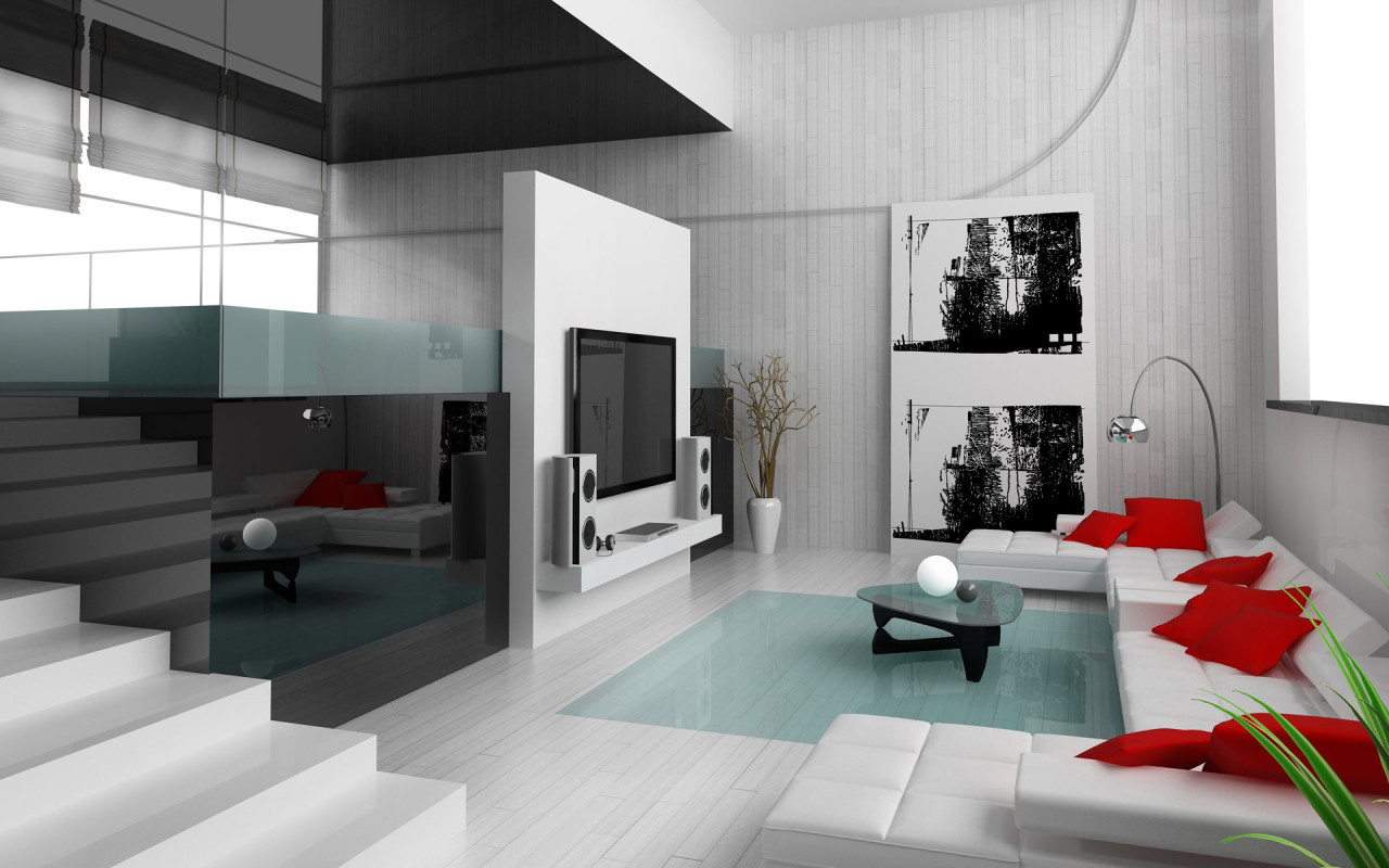 28 red and white living rooms for Interior room decoration