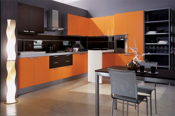 mia arancio orange kitchen 582x388 Improve Your Kitchens into Orange Kitchen