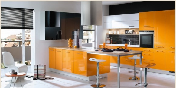 Mobalpa Orange kitchen Design