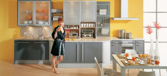 Modular Yellow Kitchen