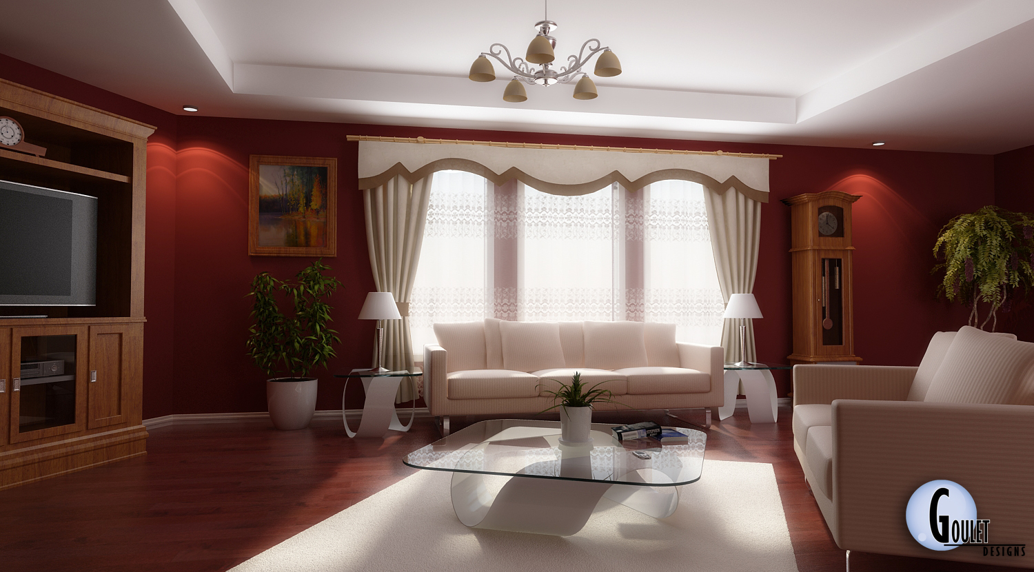Great Red and White Living Room Design 1500 x 830 · 744 kB · jpeg