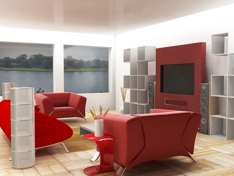 28 red and white living rooms Red black and white living room