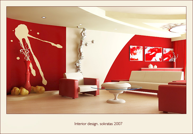 28 red and white living rooms for Living room ideas red