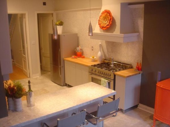 Retro Kitchen Orange and Black