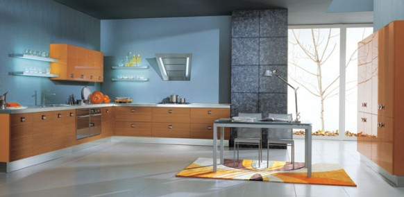 vitali cucine blue kitchen color