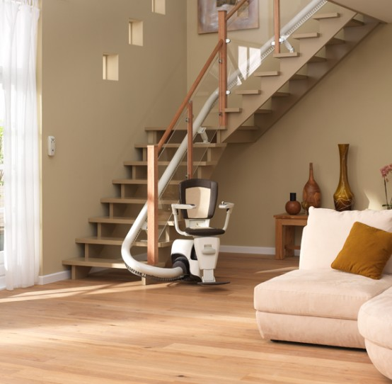 unique interior stair lift
