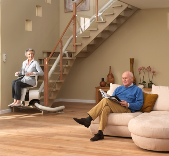 Curved stair lift Sinor by ThyssenKrupp Monolift 2