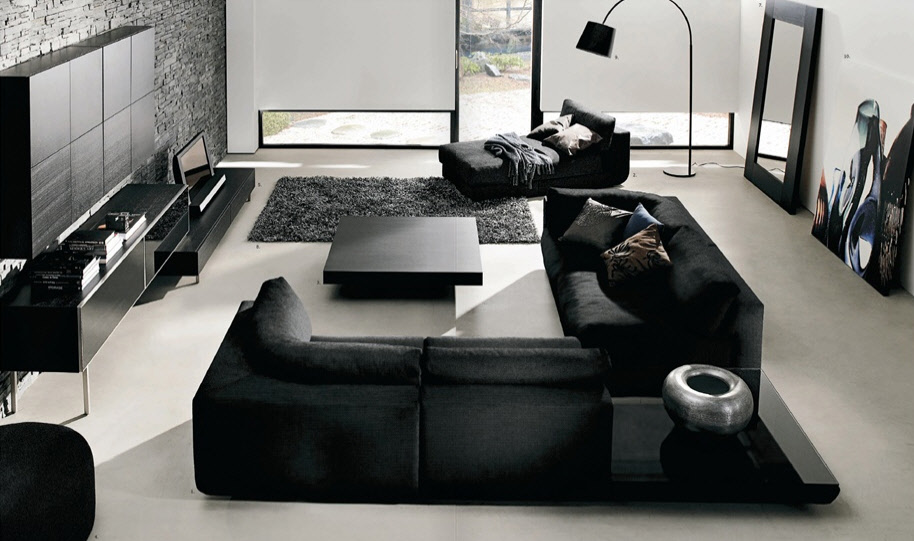 Modern Black Living Room Furniture 914 x 541