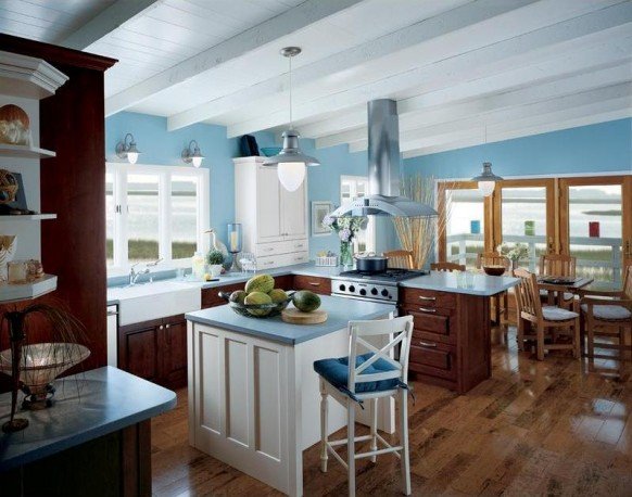 Modern Design Kitchens With Blue Color