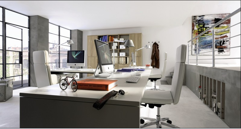 Home office furniture by hulsta for Upscale home office furniture
