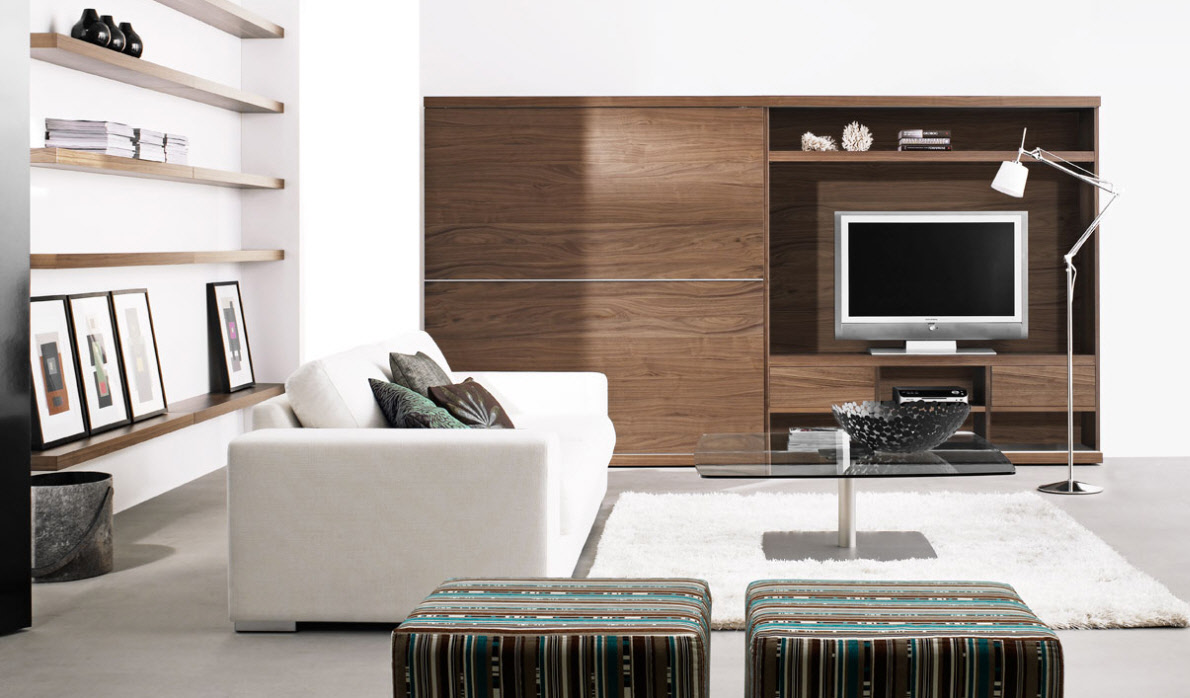 Contemporary living room furniture for Room with furniture