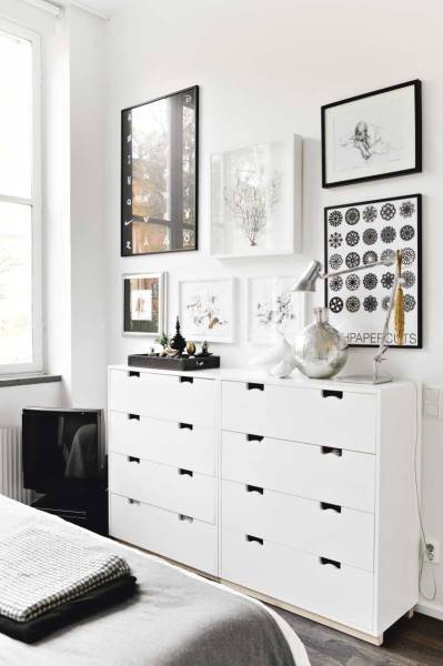 scandinavian bed room cabinet