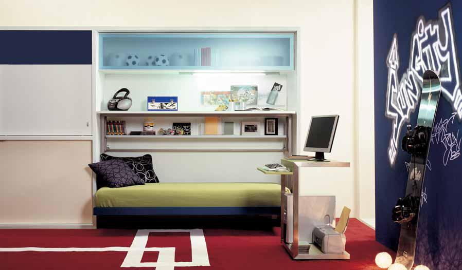 Ideas for teen rooms with small space for Cool small bedroom ideas