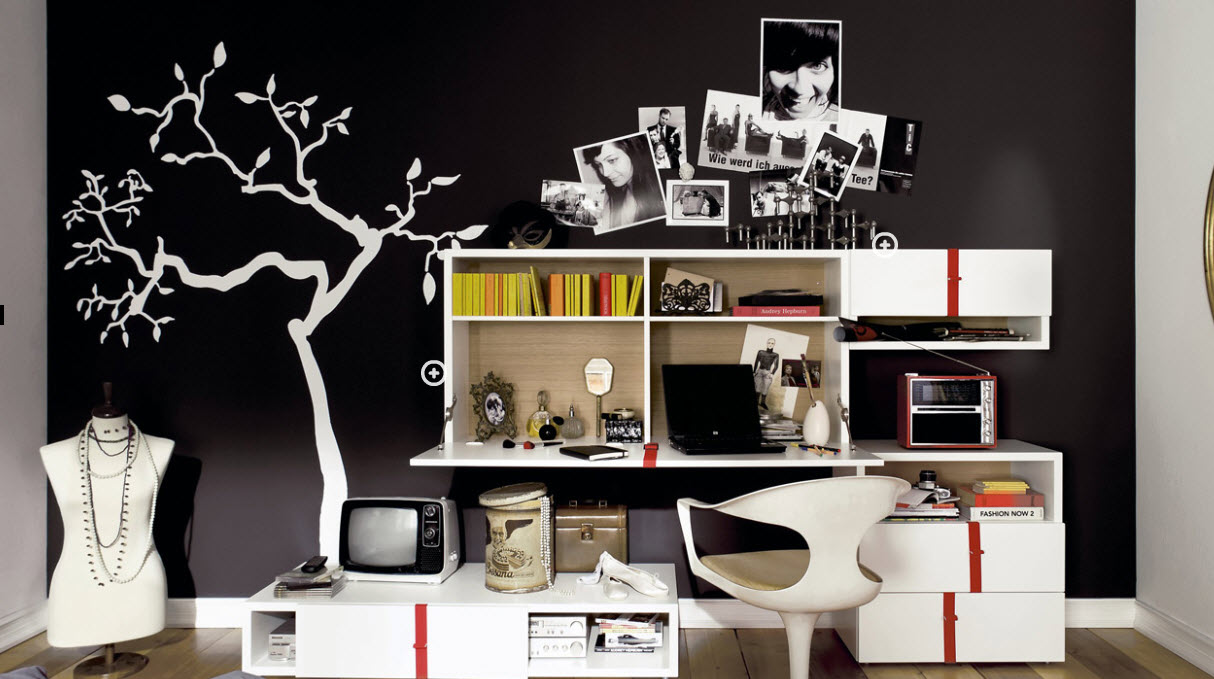 Trendy teen rooms for Black and white rooms for teens