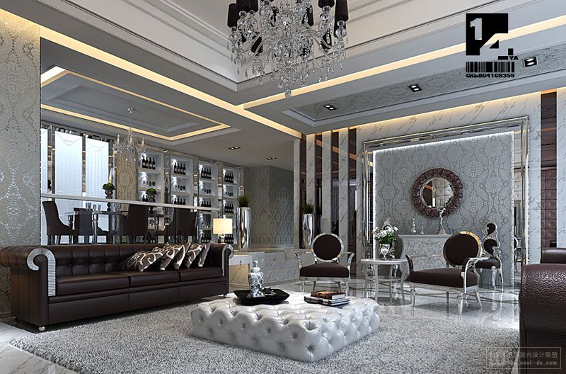 Modern Chinese Living Room With Tradition and Contemporary Designs.