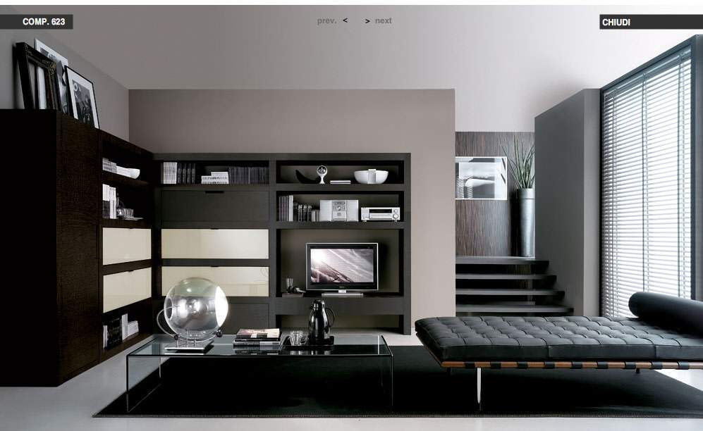 Black Loungebed Livingroom