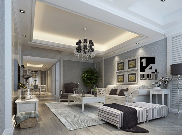 stylish and lavish living room designs with white and red theme