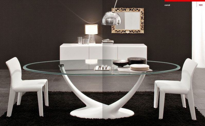 Luxury glass table designs
