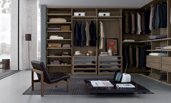 open layout wardrobe