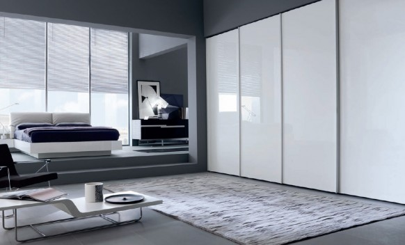 sliding door white wardrobe