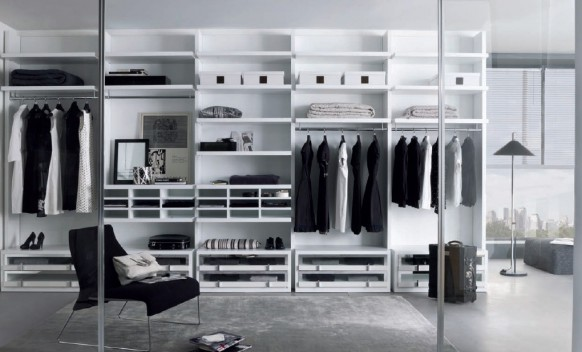 walk-in closet wardrobe
