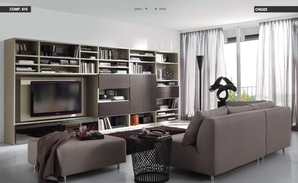 Modern living rooms from tumidei - Black brown and white living room ...