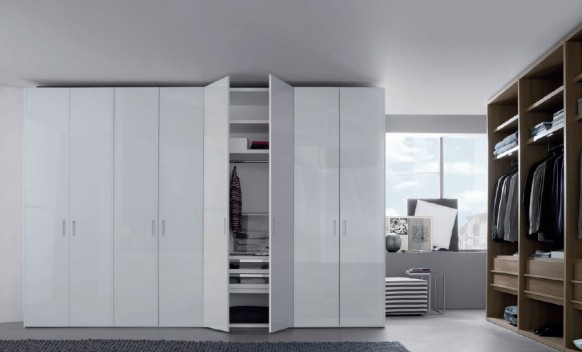 white hinged door wardrobes