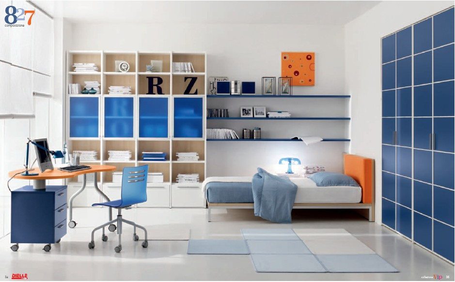 Modern kids room furniture from dielle for Modern kids furniture