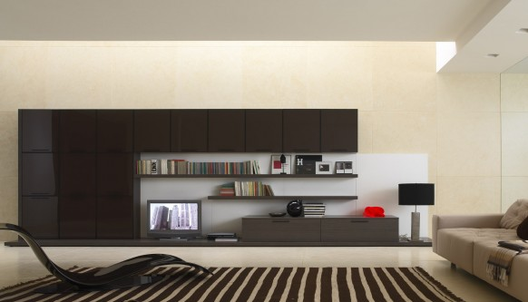 black and beige room