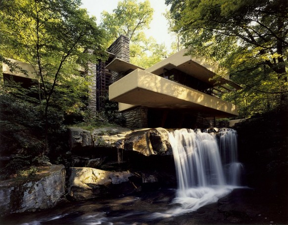 waterfall outside falling water
