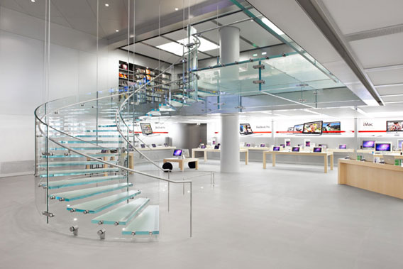 Apple store-interior view