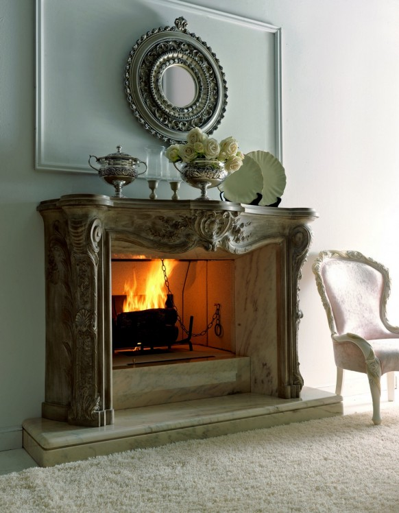 Italian fireplace the luxury design