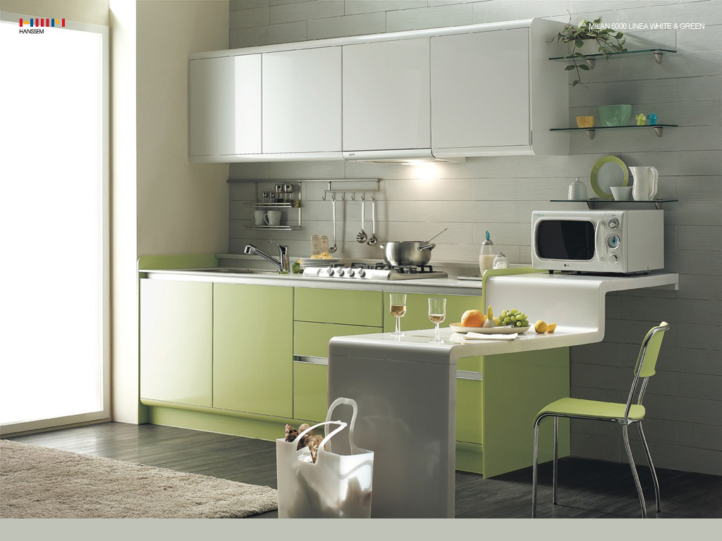 Green kitchens for Kitchen pictures