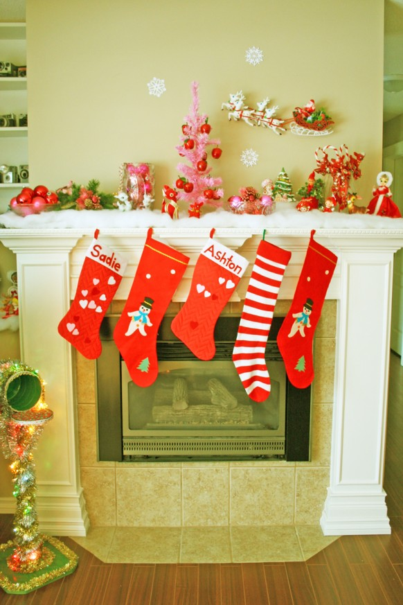 christmas interiors - fireplace