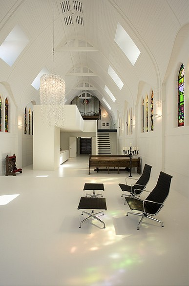 church remodeled- lounge area