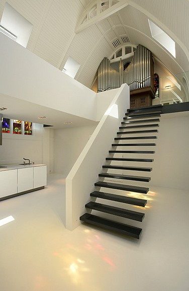 church remodeled- staircase