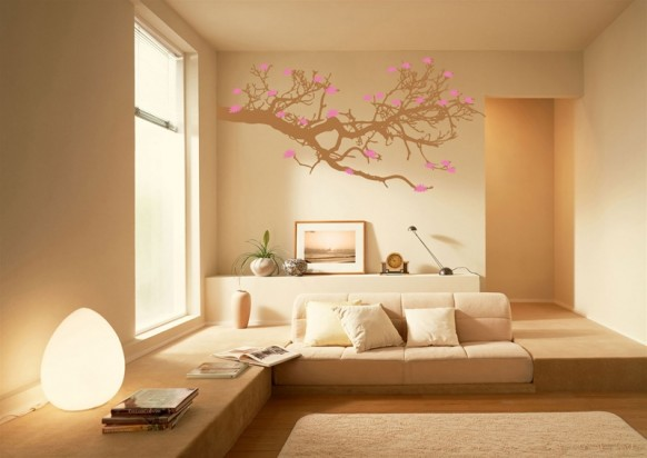 cool wall tat - pink tree