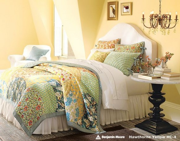 festive colors in the bedroom