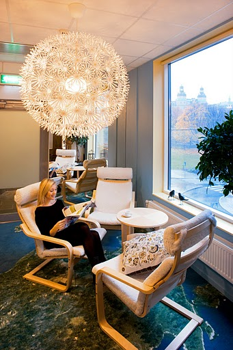google stockholm office - informal discussion area