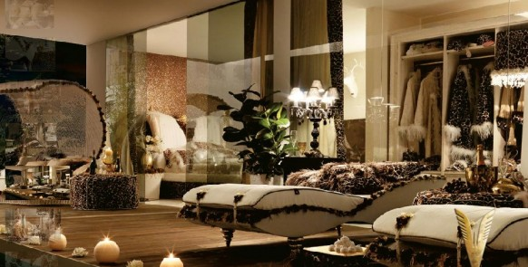 luxurious interiors-black room