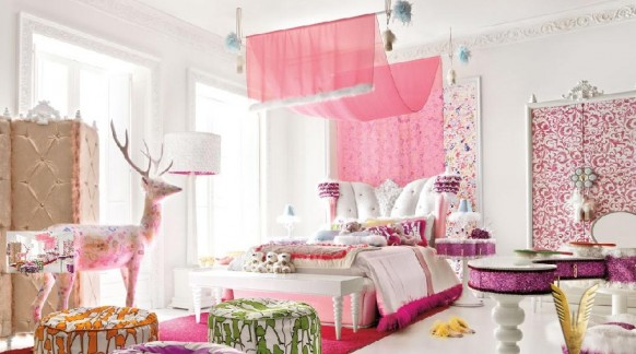 Luxurious Interiors-Girl room Ideas