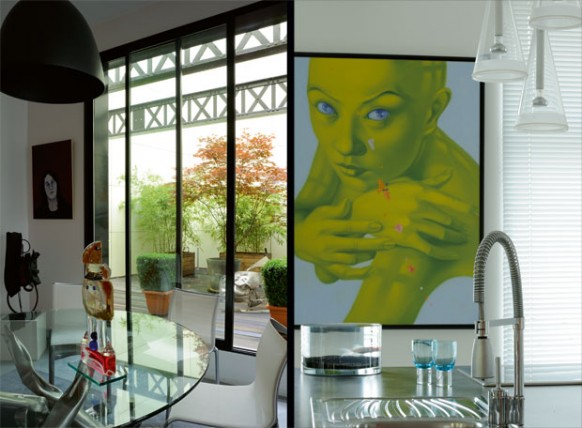 new classic style loft - art at home