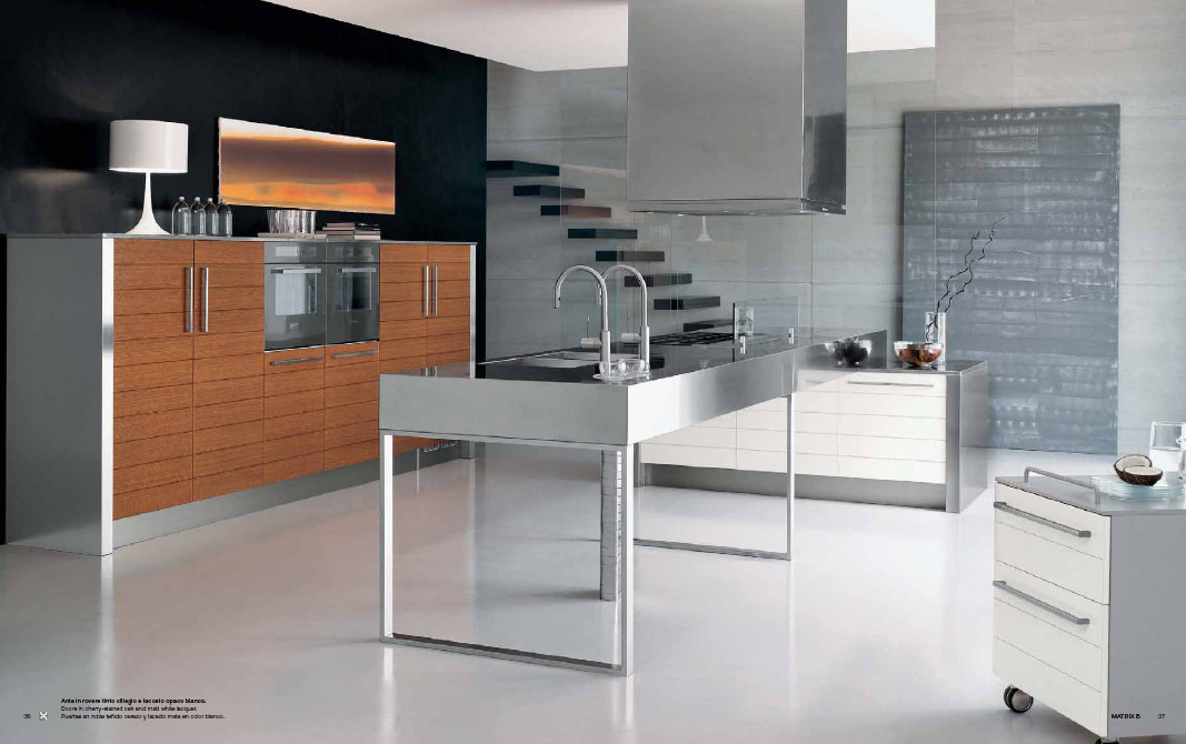 Stainless steel kitchen designs for Stainless steel kitchen designs