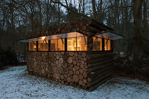 House Design Pile of Logs From Netherlands
