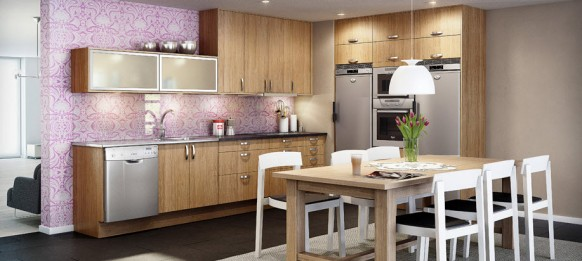Kitchen Wallpaper Contemporary luxury wooden kitchen design