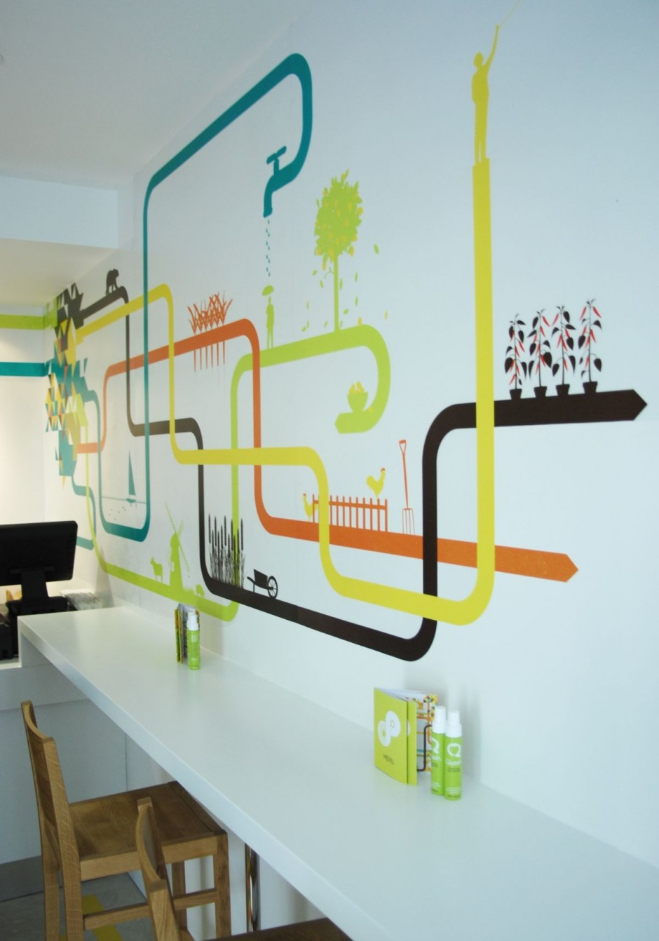 Wall graphic on Pinterest | Graphics, Office Walls and Murals