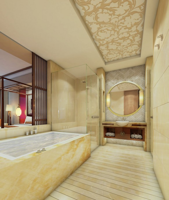 luxury bathroom interior